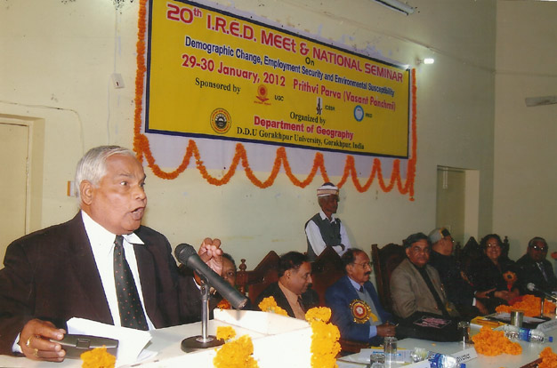 Prof. S.N. Singh Addressing the participants