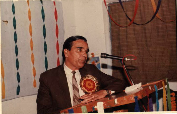 Prof. J.P. Rai addressing on eve of felicitation of Prof. Jagdish Singh