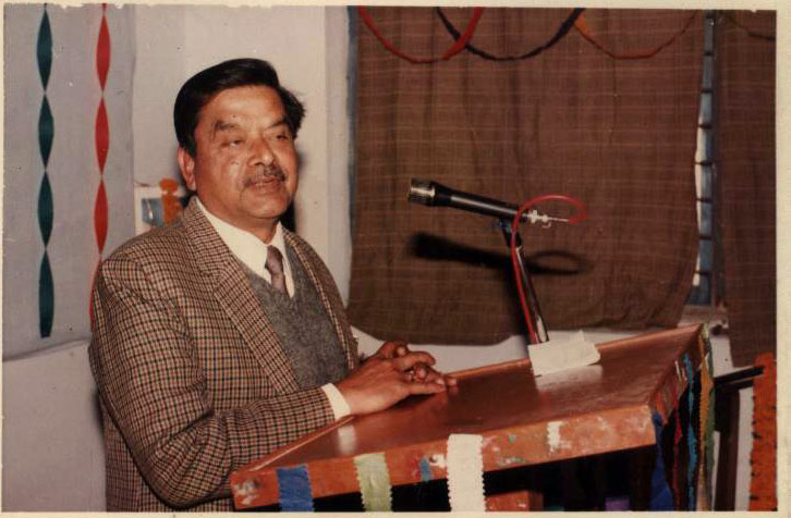 Prof. R.A. Agrawal Pro Vice Chanceller addressing in Felicitation of Prof. Jagdish Singh